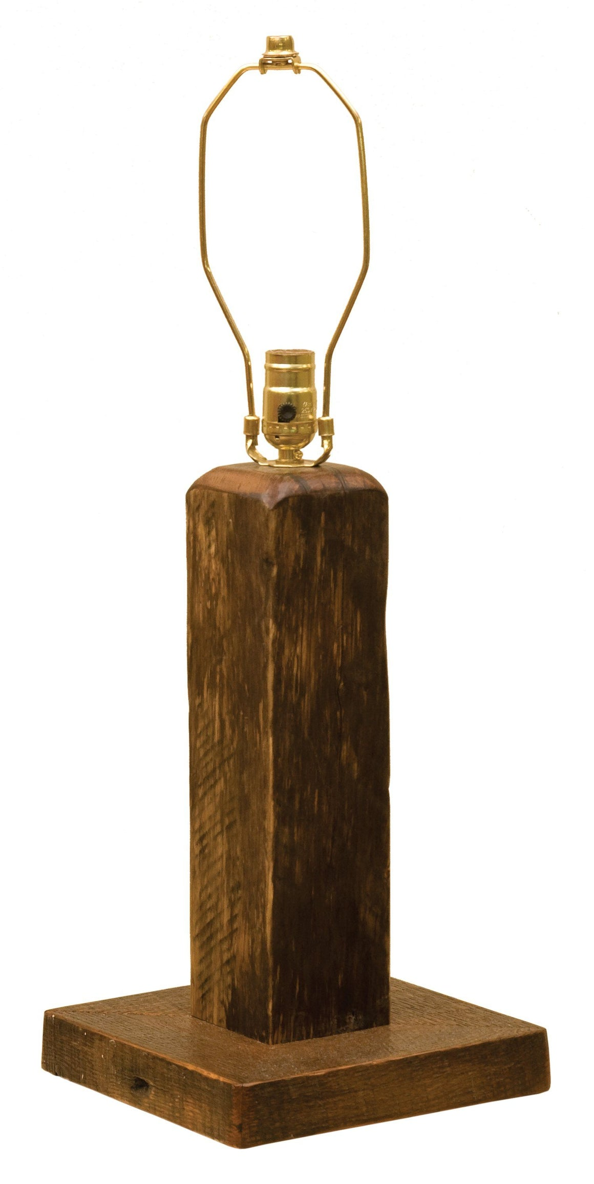 Barnwood Table Lamp -  Standard Finish - Rustic Deco Incorporated