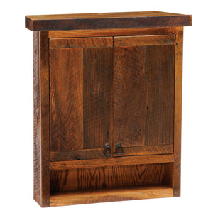 Barnwood Toilet Topper Cabinet - Handmade Antique Tobacco Barn Wood-Rustic Deco Incorporated