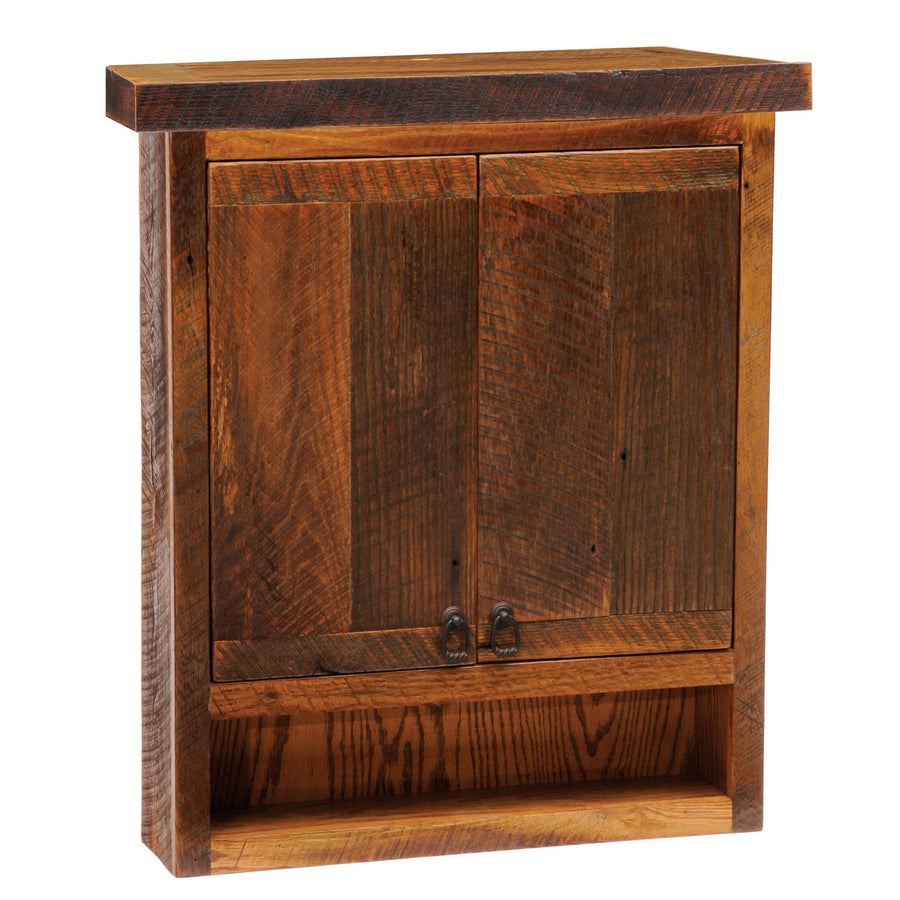 Barnwood Toilet Topper Cabinet - Handmade Antique Tobacco Barn Wood - Rustic Deco Incorporated