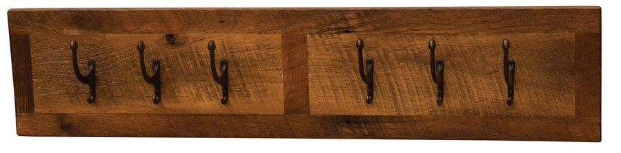 Barnwood Wall Coat Rack- 24, 36, 48 Inch - Standard Finish - Rustic Deco Incorporated