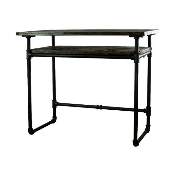 Berkeley Industrial Vintage Pipe Desk - Home Office - Solid Wood - Rustic Deco Incorporated