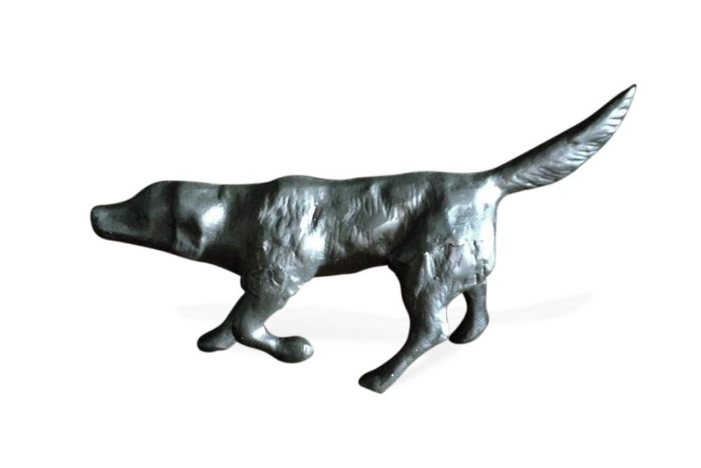 Bird Dog Sculpture Figurine Labrador Hunting Pointing - Cast Iron Metal-Rustic Deco Incorporated