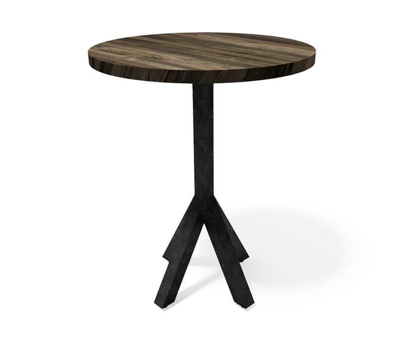 Bistro Modern Industrial Pub Table - Steel Base - Round Hardwood Top-Pub Table-Rustic Deco Incorporated