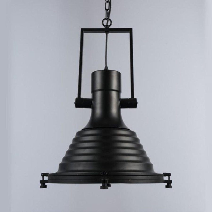 "Black Nautical Industrial Pendant Light - 17"" - Rustic Deco Incorporated"