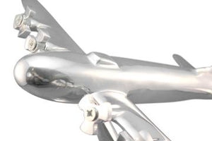 Bomber Desk Art Sculpture - WWII Aircraft Polished Aluminum Model-Rustic Deco Incorporated
