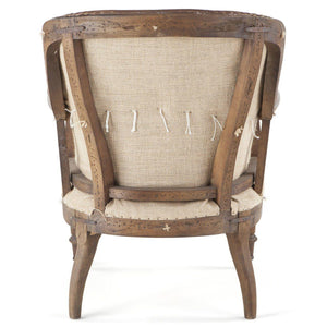 Brown Leather Shakespear Cigar Chair - Deconstructed Back - Mancave - Rustic Deco Incorporated