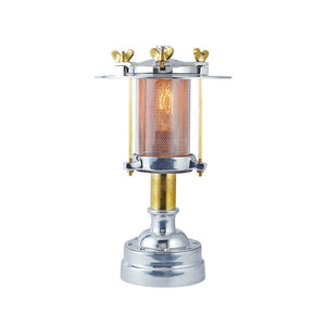 Cascade Table Lamp - Desktop - Brass - 1930's Austrian Lantern-Rustic Deco Incorporated