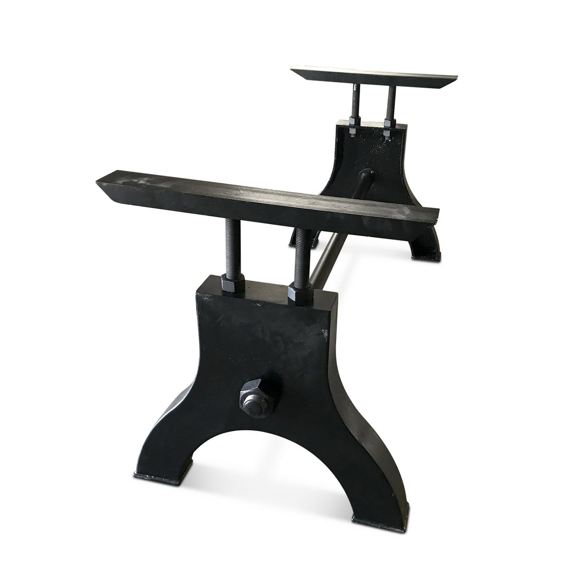 Industrial Table Base Cast Iron Adjustable Height Desk - Hure Inspired - Rustic Deco Incorporated