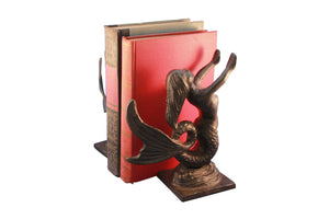 Mermaid Bookends - Cast Iron Metal - Pair - Nautical - Rustic Deco Incorporated