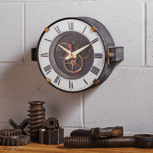 Chicago Factory Wall Clock - Vintage Industrial - Steampunk - Rustic Deco Incorporated