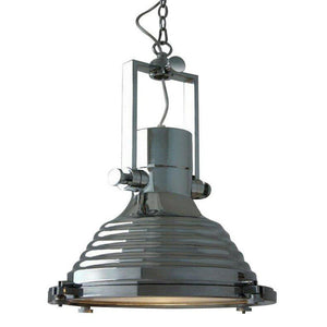 "Polished Chrome Nautical Pendant Light - 17"" Diameter - Rustic Deco Incorporated"