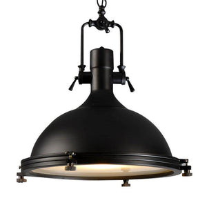"Classic Black Large Nautical Pendant Light Lighting - 17"" - Rustic Deco Incorporated"