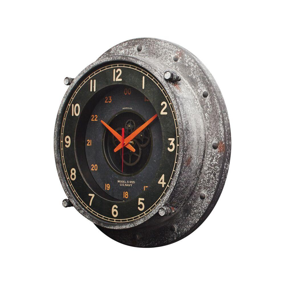 "Control Room Wall Clock - Atomic Age - Vintage Industrial - Steel - Glass - 20"" - Rustic Deco Incorporated"