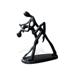 Couple Dancing Dip Metal Figurine - Cast Iron - Art Deco Abstract-Rustic Deco Incorporated