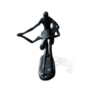 Couple Dancing Dip Metal Figurine - Cast Iron - Art Deco Abstract - Rustic Deco Incorporated