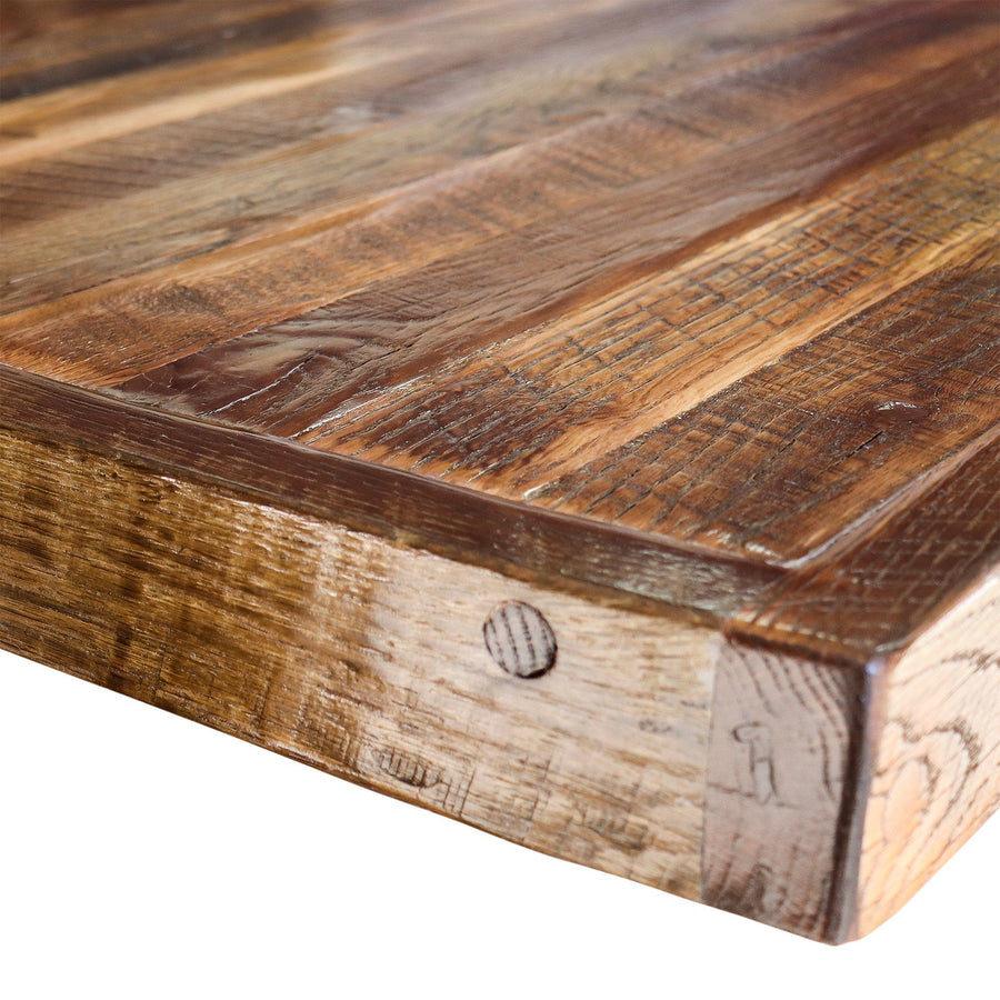 Custom Handmade Table Top - Authentic Vintage Barnwood - Solid Hardwood - Rustic Deco Incorporated