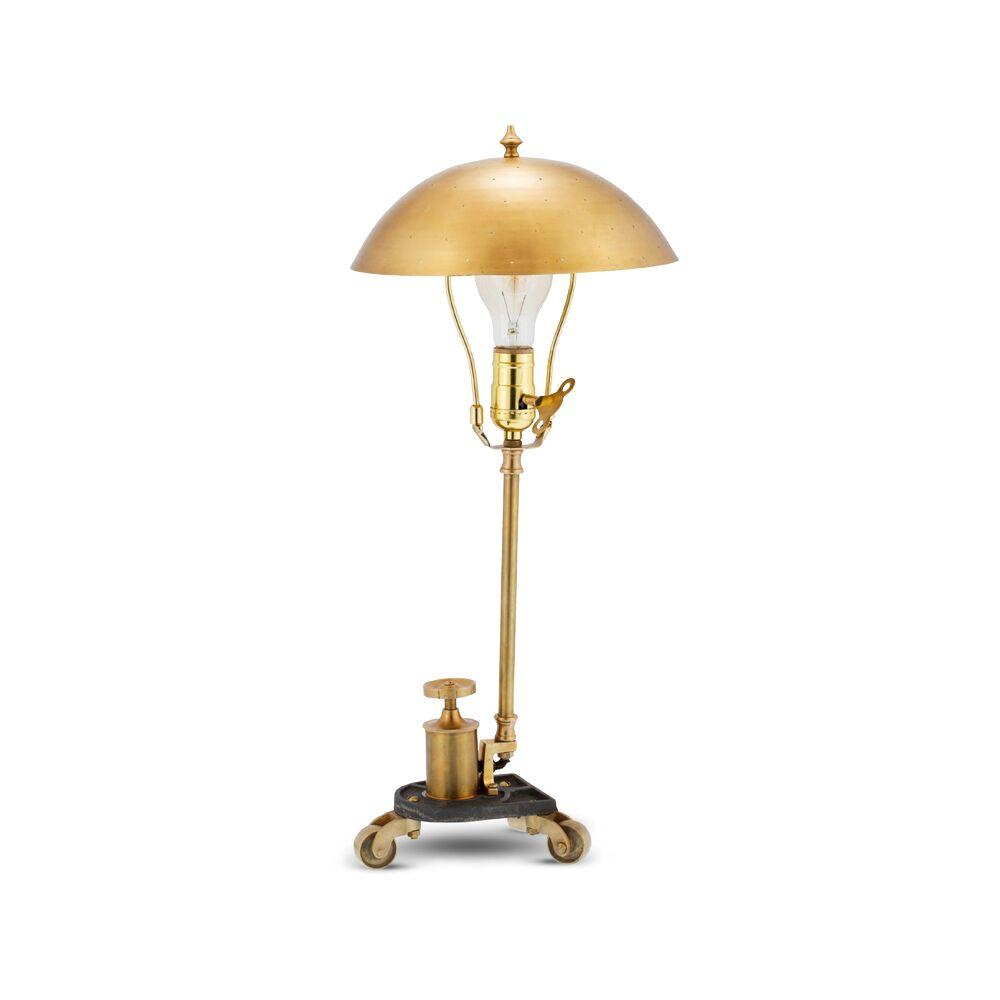 "DaVinci Table Desk Lamp - Brass - Vintage Style - 20"" High - Rustic Deco Incorporated"
