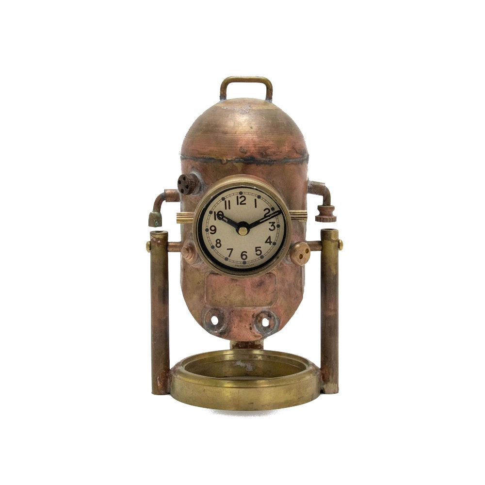 Diver Helmet Steampunk Desk Clock