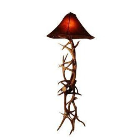 Authentic Elk And Mule Deer Antler Floor Lamp - Genuine Handcrafted USA - Rustic Deco Incorporated