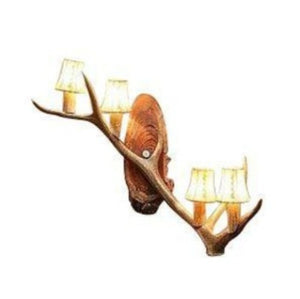 Elk Single Antler Wall Sconce - Rustic Deco Incorporated