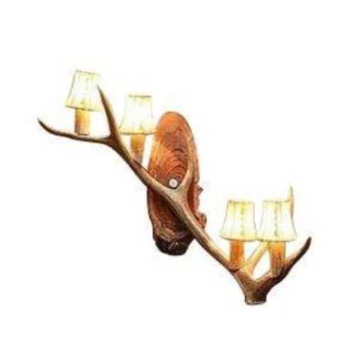 Genuine Elk Single Antler Wall Sconce - Handmade - Western Rustic - Rustic Deco Incorporated