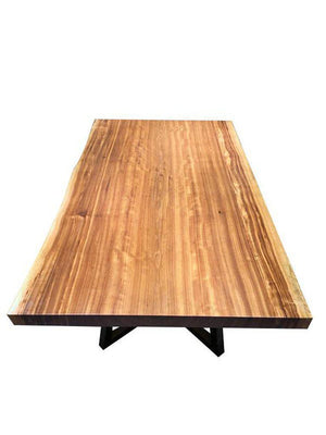 "Exotic Hardwood African Zebrawood Live Edge Table Top Slab - 77"" x 41"" - Rustic Deco Incorporated"