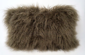 Exotic Pewter Tibetan Sheep Pillow - Rustic Deco Incorporated