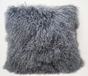 Exotic Steel Grey Tibetan Sheep Throw or Rug-Rustic Deco Incorporated