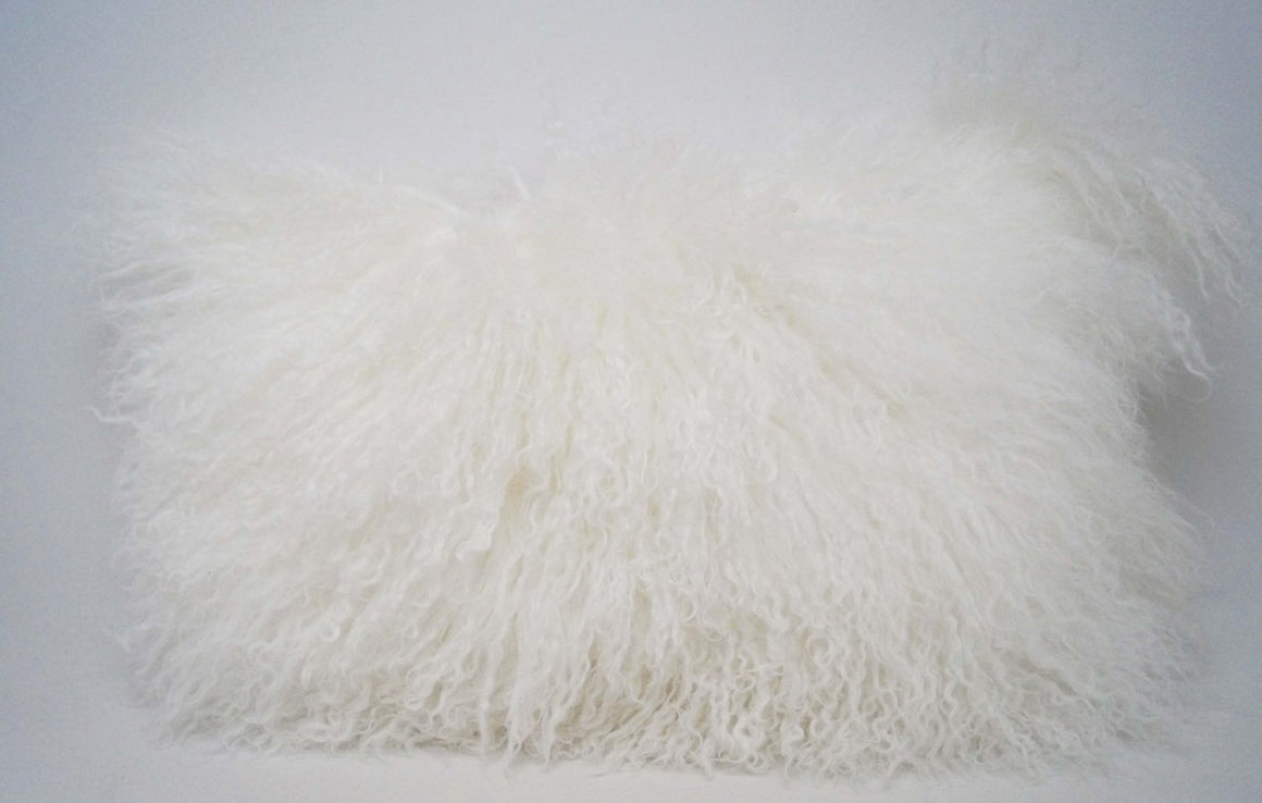 Exotic White Tibetan Sheep Throw or Rug-Rustic Deco Incorporated