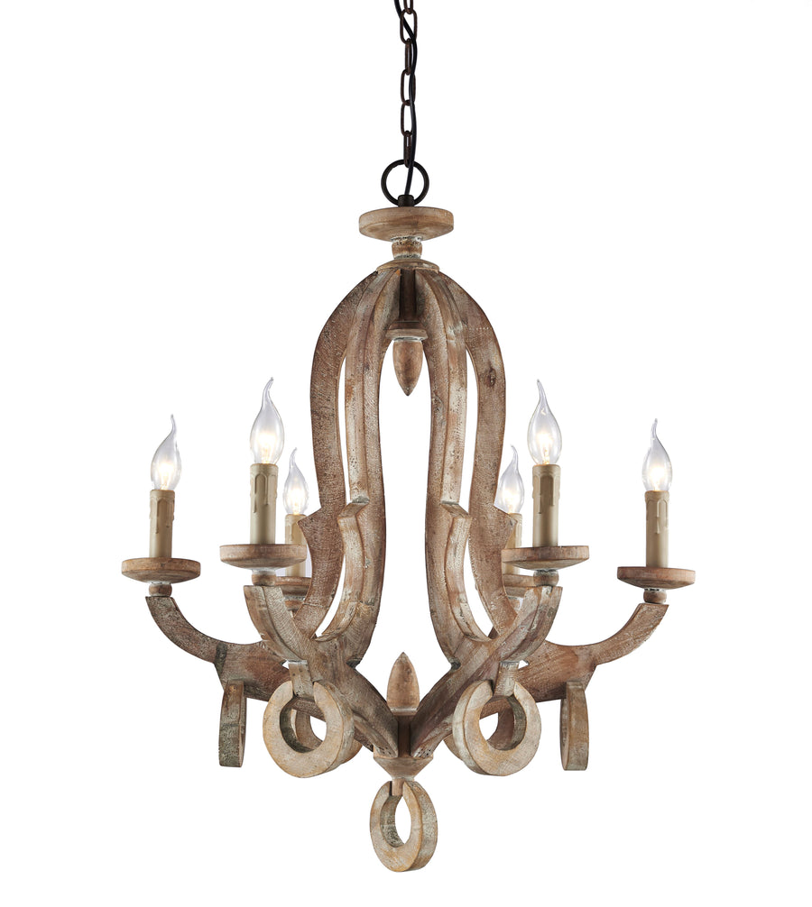 Farmhouse Formal Reclaimed Wood Chandelier - Rustic Deco Incorporated