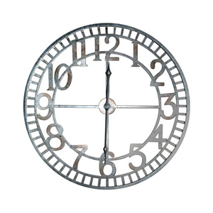 "Extra Large Farmhouse Industrial Metal Wall Clock - 36"" Diameter - Rustic Deco Incorporated"