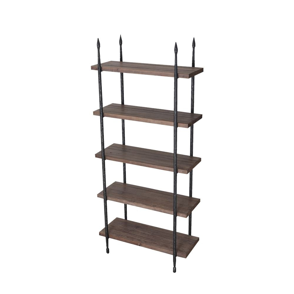 "Florence Bookshelf Industrial Bookcase 72"" - Rustic Deco Incorporated"
