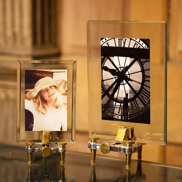 Geneva Photo Frame Small - 19th Century Swiss Watchmaker - Solid Nickel Brass-Rustic Deco Incorporated