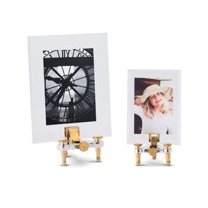 Geneva Photo Frame Small - 19th Century Swiss Watchmaker  - Solid Nickel Brass - Rustic Deco Incorporated