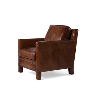 Genuine Brazilian Leather Armchair Distressed Chair Rustic Deco