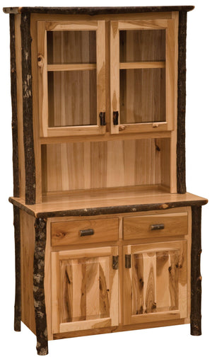 Hickory Log Buffet - 48-inch - Standard Finish - Rustic Deco Incorporated