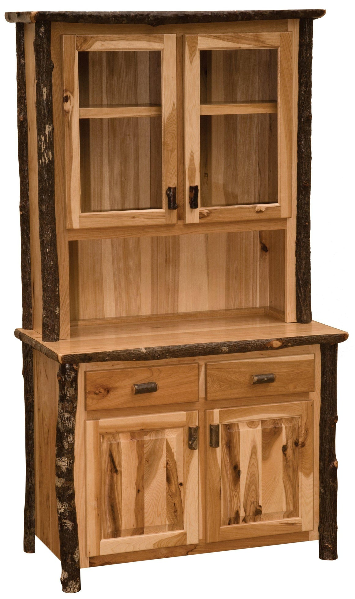 Hickory Log Buffet and Hutch - 48-inch - Standard Finish-Rustic Deco Incorporated