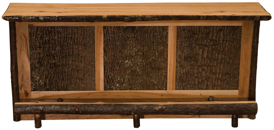 Hickory Log Home Bar - 92 inches -Cabin - Western - Liquid Glass Finish - Rustic Deco Incorporated