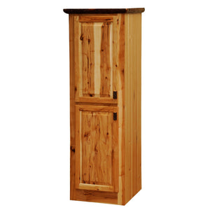 Hickory Log Linen Cabinet - 18-24-inch - Hinged Right - Two Single Doors - Rustic Deco Incorporated