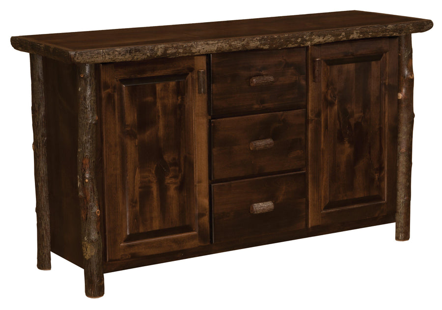 Hickory Log Sideboard - Standard Finish - Rustic Deco Incorporated