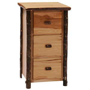 Hickory Log Three Drawer File Cabinet - Standard Finish-Rustic Deco Incorporated