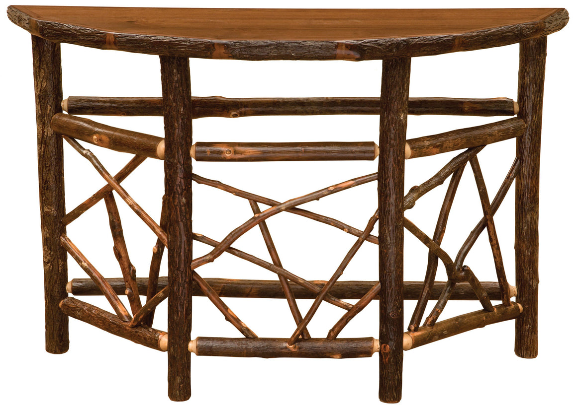 Hickory Log Twig Entry Table - Standard Finish - Rustic Deco Incorporated
