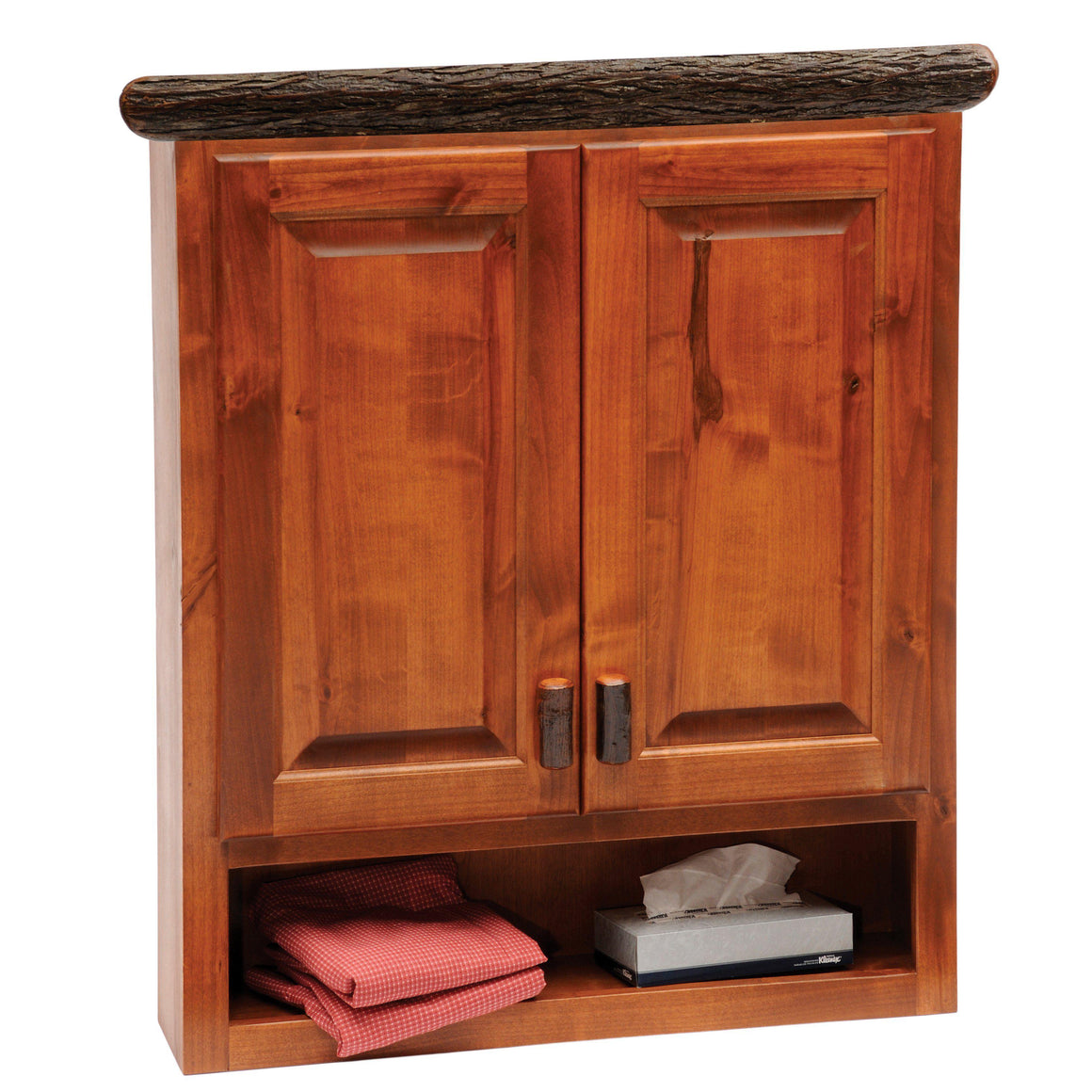 Hickory Toilet Topper Cabinet - Standard Finish-Rustic Deco Incorporated
