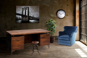 Highway to the City Bridge City - Solid Wood Canvas Painting - Rustic Deco Incorporated