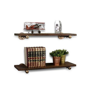 Honolulu 2 Piece Industrial Farmhouse Shelf Set - Books & Decor-Rustic Deco Incorporated
