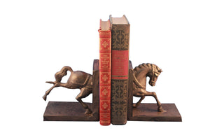 Horse Running Bookends - Metal - Pair - Carousel Style - Rustic Deco Incorporated