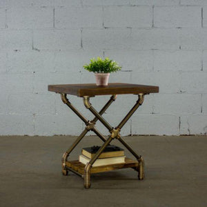 Houston Industrial Chic Pipe Side Table Side Table Furniture Pipeline