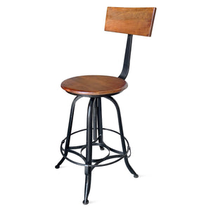 Industrial Adjustable Bar Chair Bar Stool Chair Rustic Deco