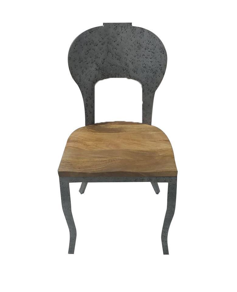 Industrial Art Deco Classic Metal Wood Dining Chair   Rustic Deco  Incorporated ...