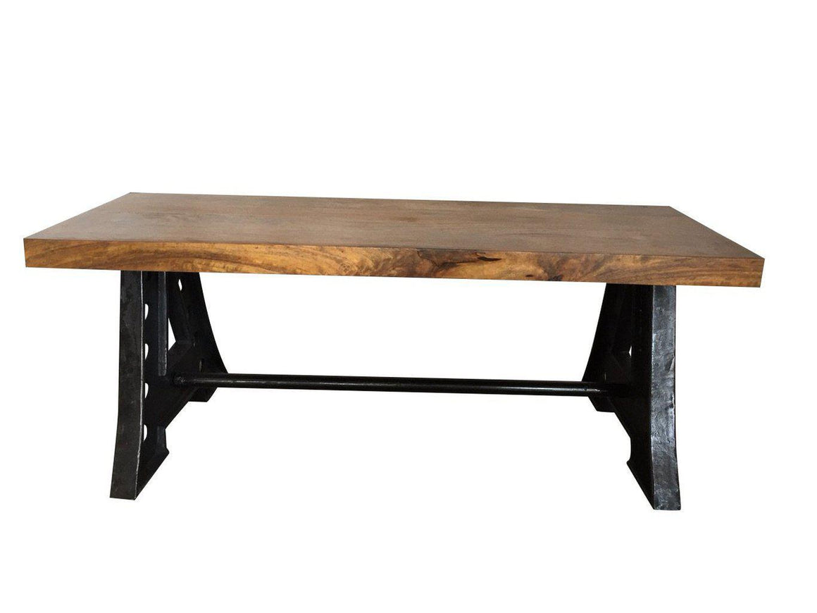 Handcrafted Industrial A-Frame Cast Iron Dining Bench - Rustic Deco Incorporated